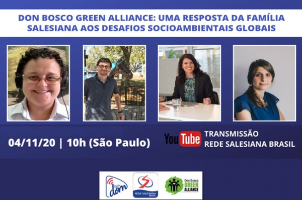 Rede Salesiana Brasil e Don Bosco Green Alliance promovem live